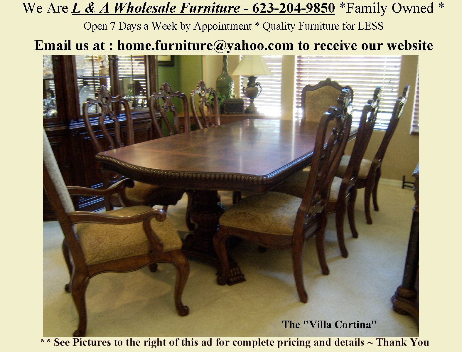 Stunning Villa Cortina Dining Room Collection Choose From A Large