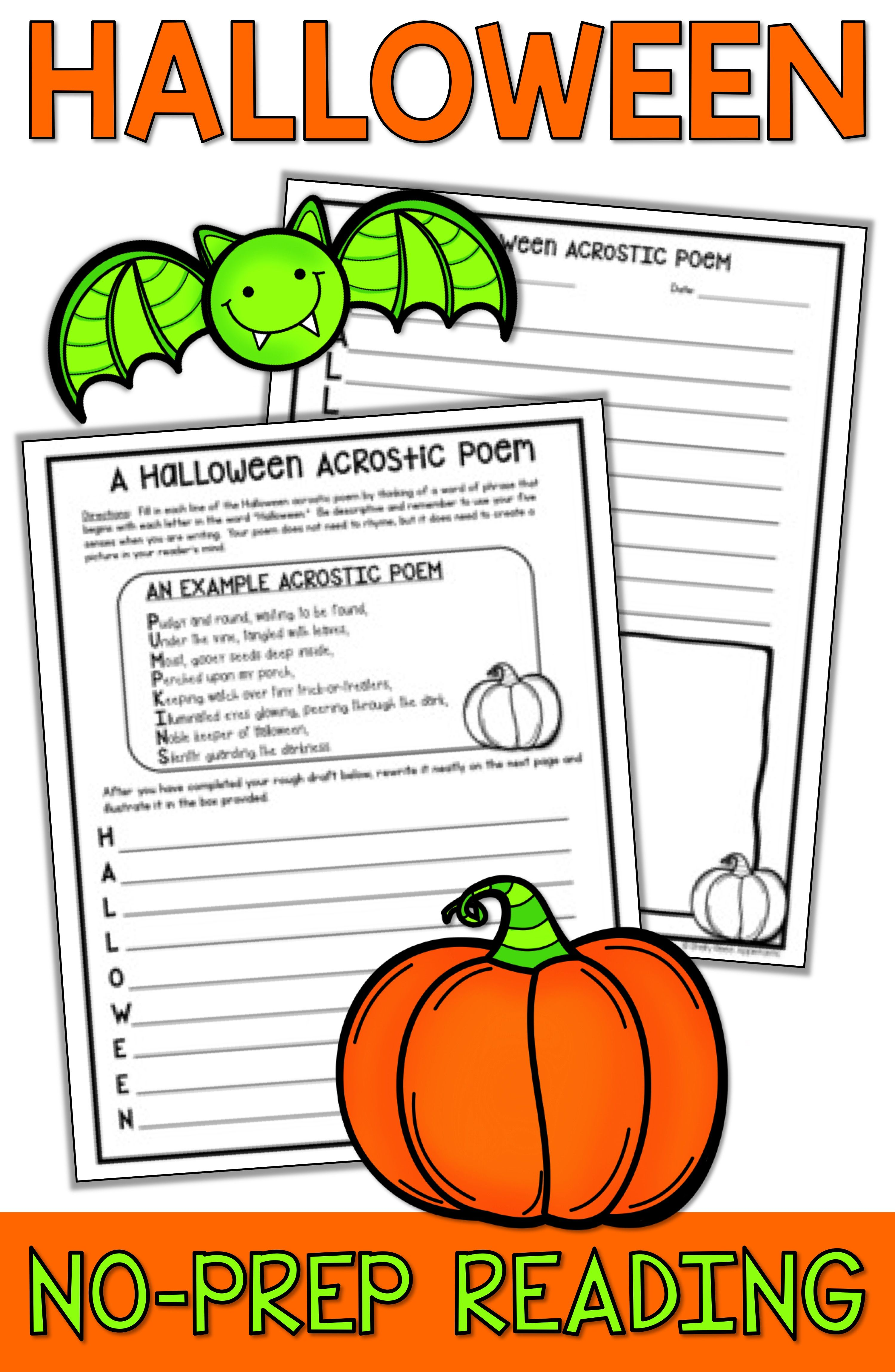 Halloween Reading Packet
