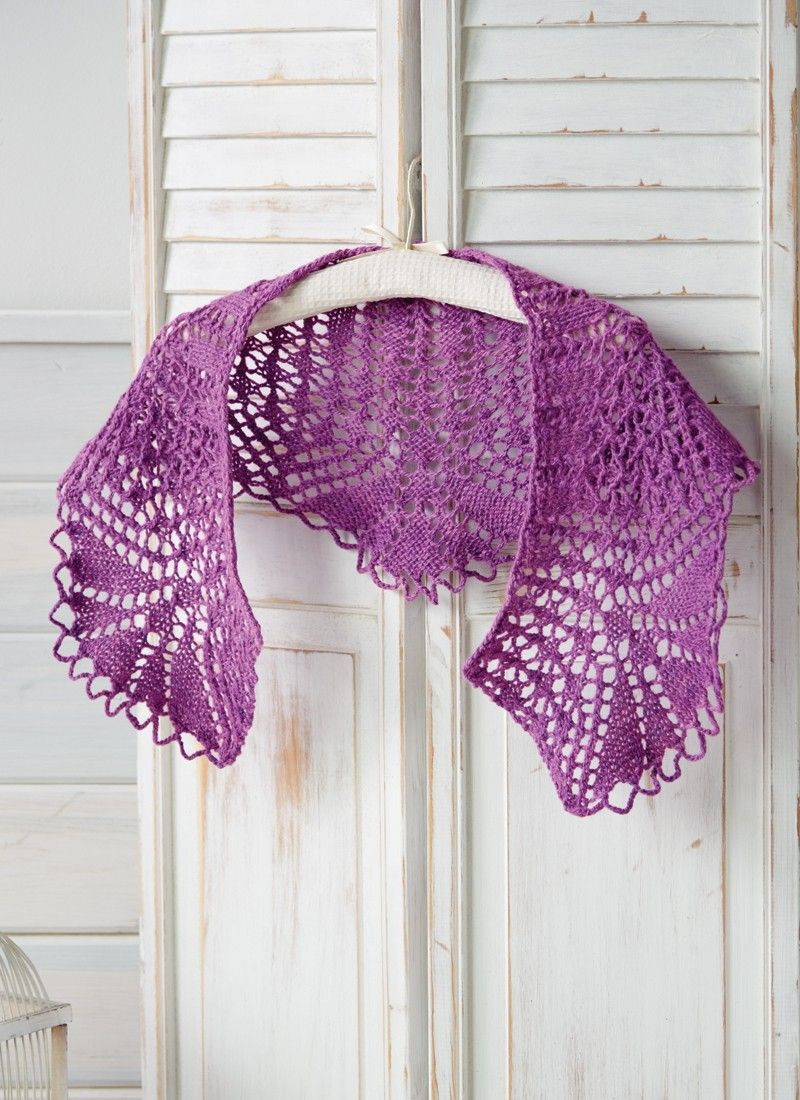 Lotus Flower Shawlette Knitting Pattern Interweavestore
