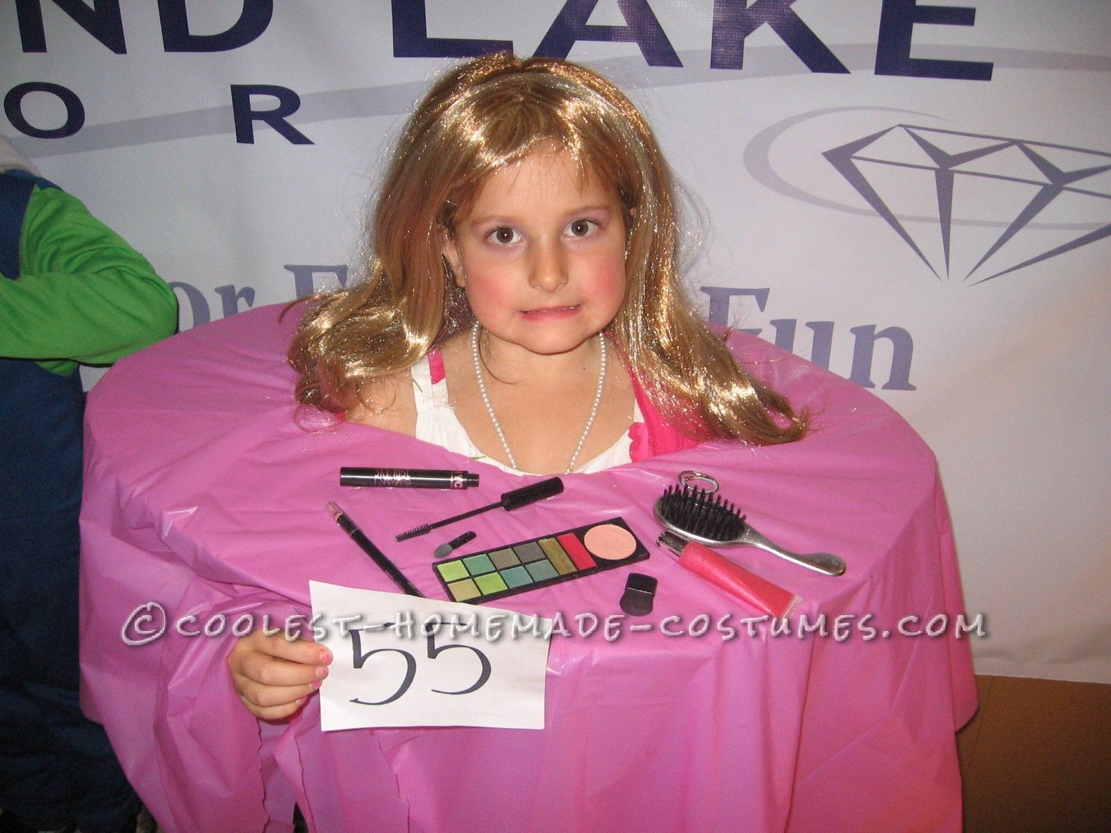 coolest homemade barbie makeup head costume barbie makeup