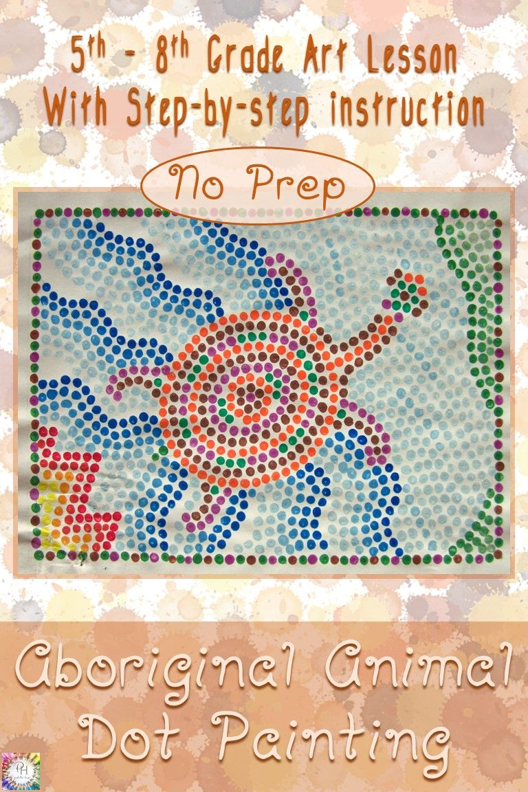 Aboriginal Animal Dot Painting | Palette and Hue | Dot