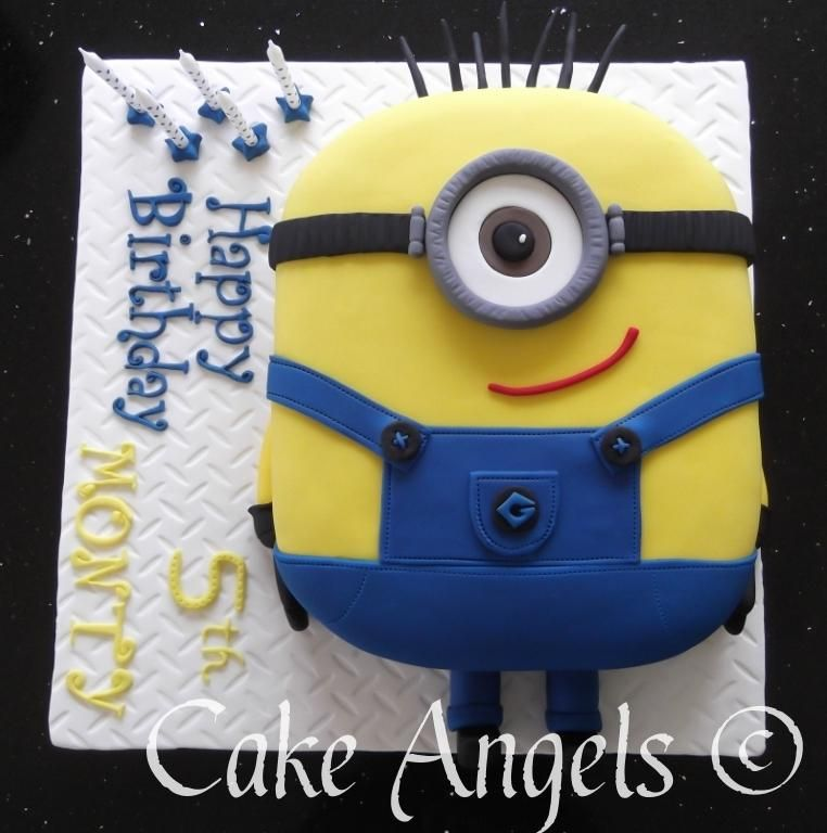 Minion Cake for Monty's 5th Birthday | Cupcake birthday ...