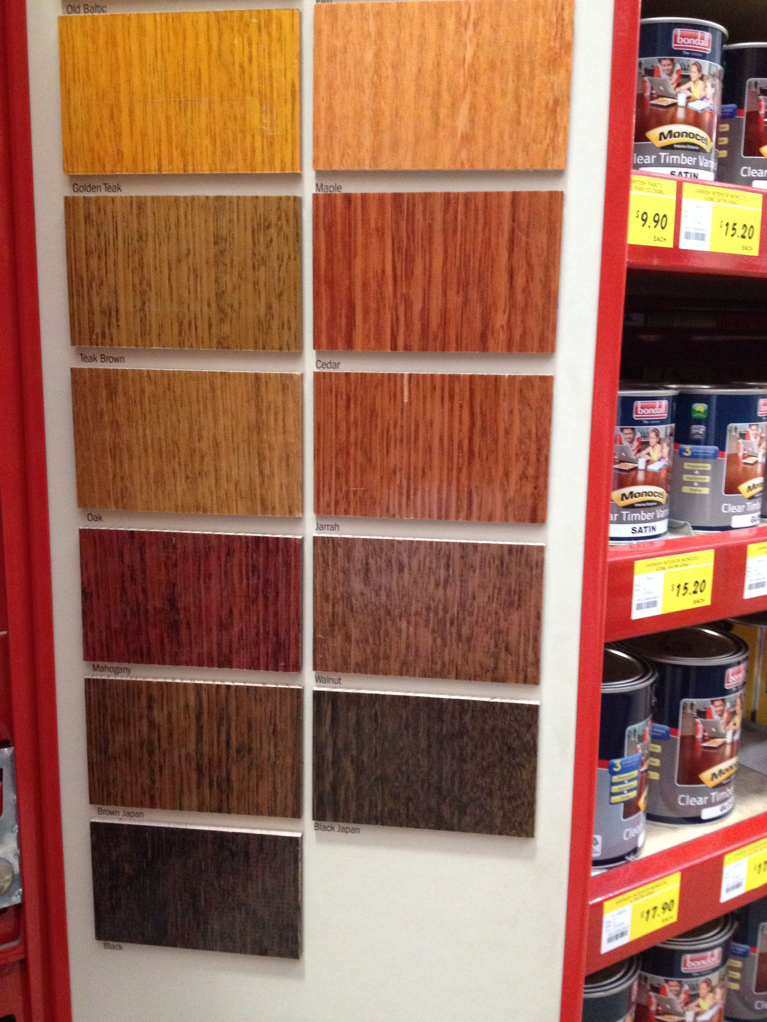 Stain Colours From Bunnings Teak Table Floor Stain