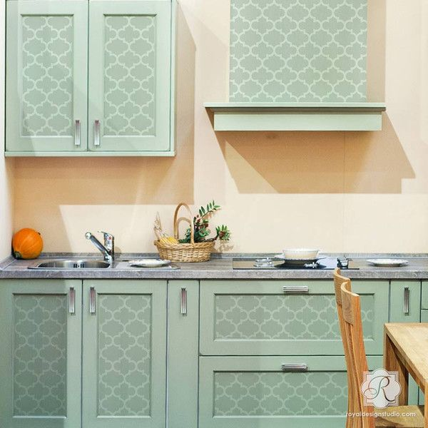 Grenadine Trellis Raven  Lily Furniture Stencil  Stenciling Fascinating Kitchen Stencil Designs Review