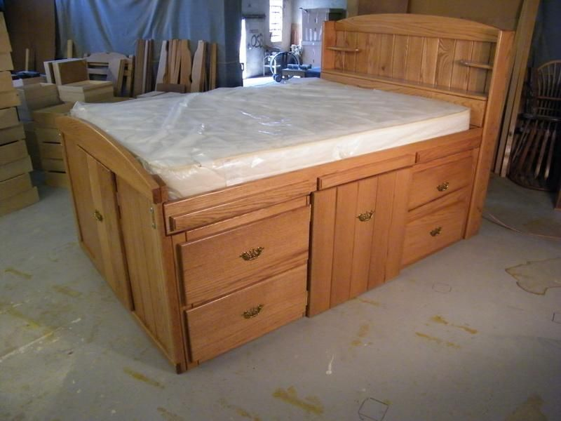 King Size Platform Bed With Storage Plans