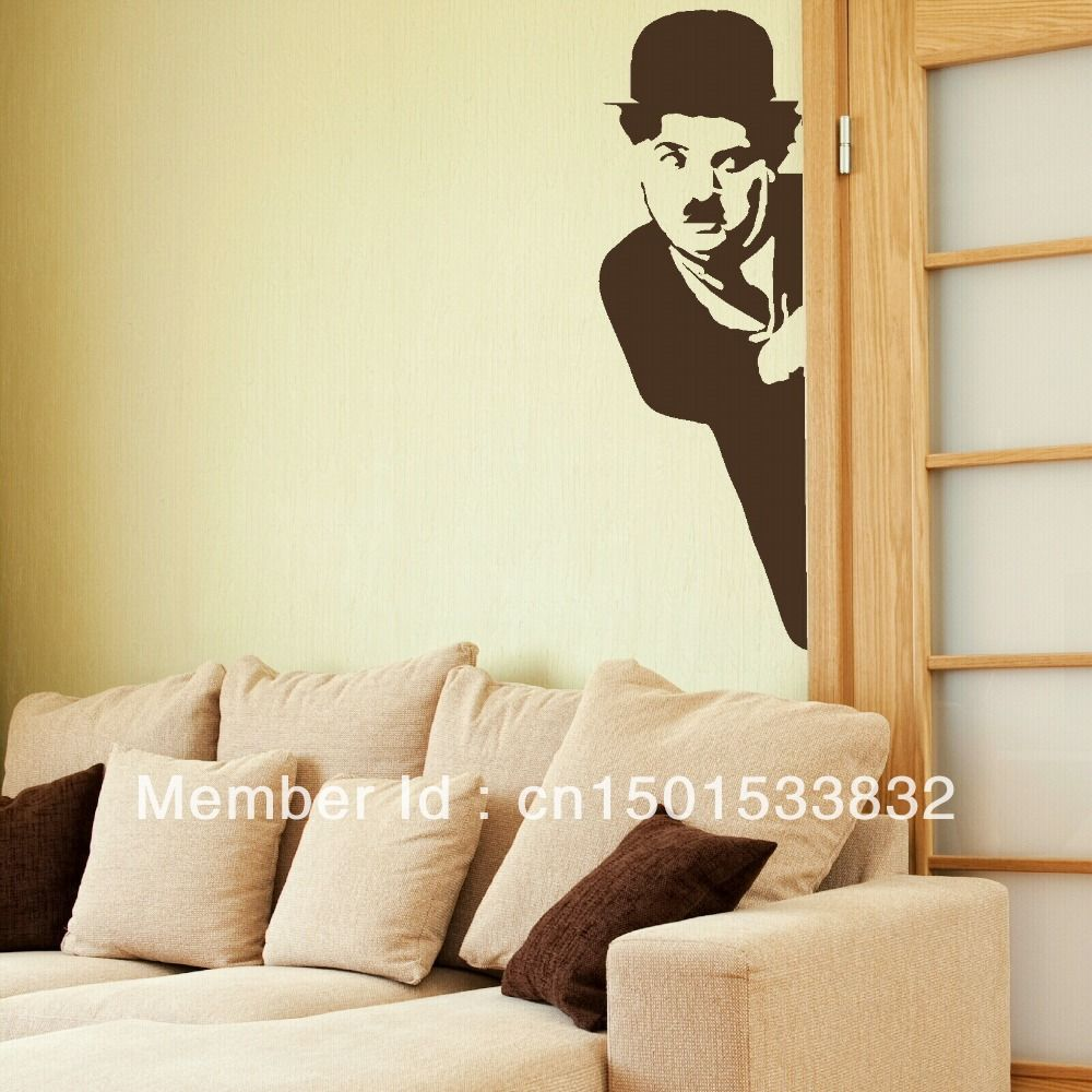 2013new original design free fast shipping charlie chaplin 2013new original design free fast shipping charlie chaplin celebrity removable wall stickers wall decals paper waterpoofg 10001000 art wall amipublicfo Image collections