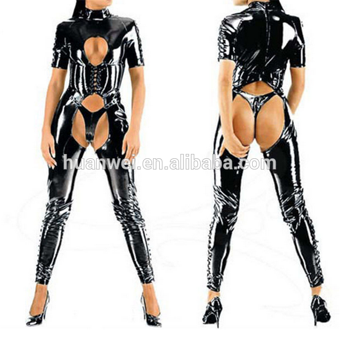 Check out this product on Alibaba.com App:women leather bodysuit open crotch pvc catsuit sexy lingerie https://m.alibaba.com/RvYB7z