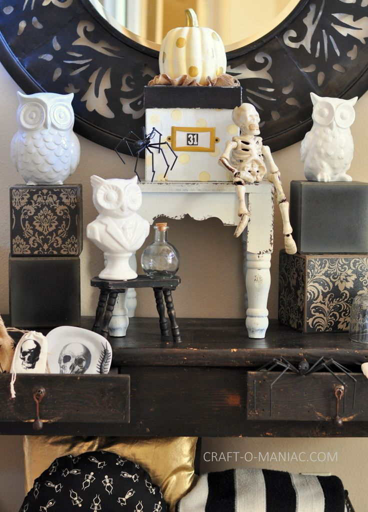 Black and White Halloween Decor My Favorite Holiday Pinterest - halloween decorations and crafts