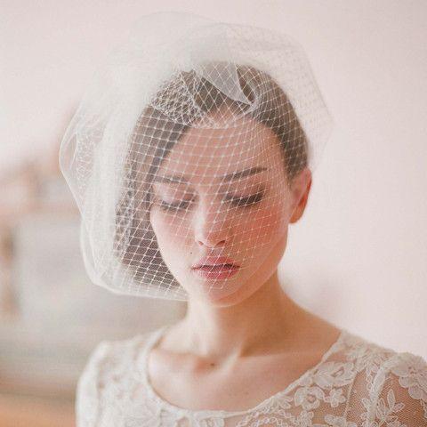 Double layer full birdcage veil - Style # 213   Twigs & Honey