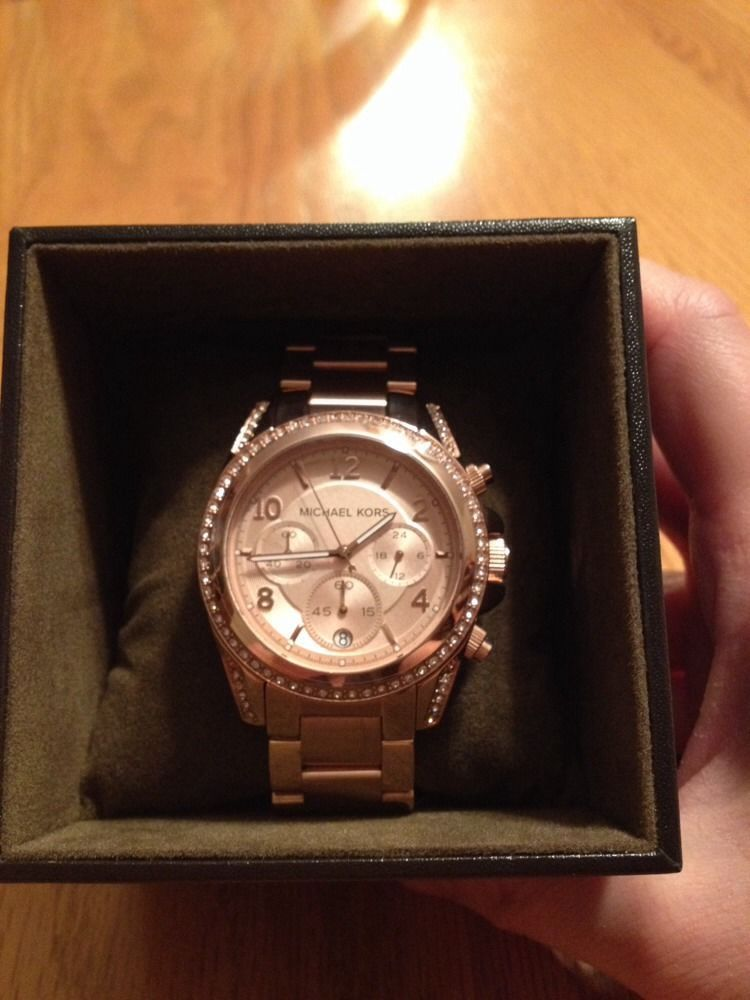 fb7e63da5d75 Michael Kors Blair Rose Gold-tone Chronograph Ladies Watch MK5263 ...