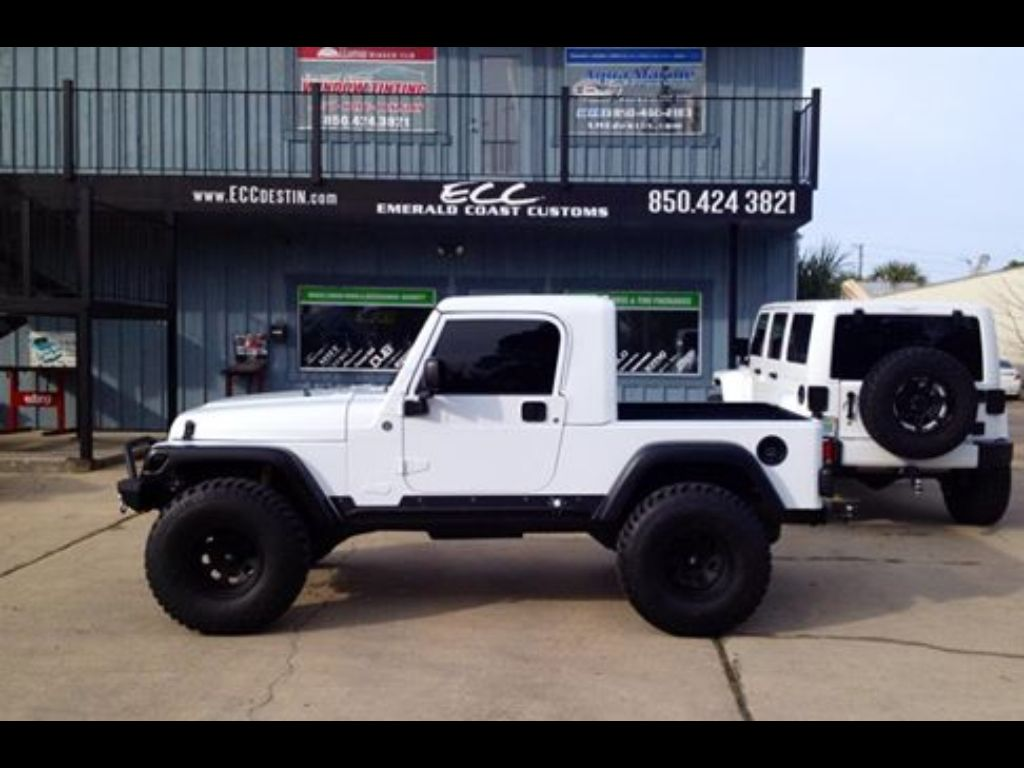 White Jeep Rubicon 4x4 Truck Conversion Gr8top W Pro Comp Wheels Wrangler Head Kit Tires Rigid Light Bar Spyder Bumpers Hid Fog Kits