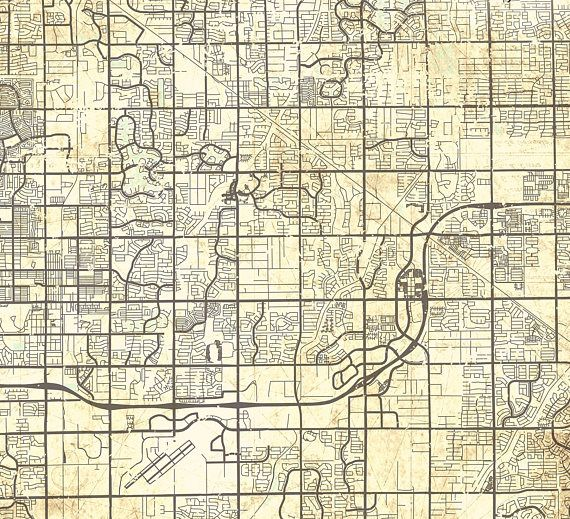 GILBERT AZ Canvas Print Arizona AZ Vintage map Gilbert az City