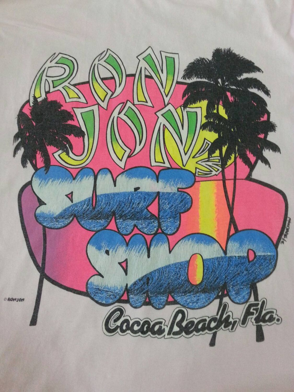 T shirt design hawaii - Vintage 90s Ron Jon Surf Shop Pocket Tshirt Tag Hanes Made In Usa Surfing Hawaii Beach Sports