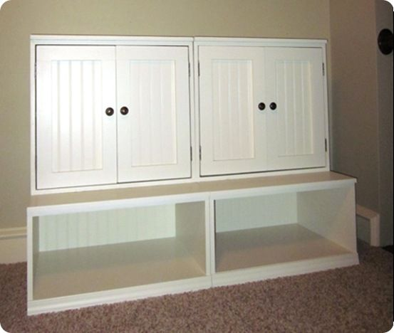 DIY Furniture | Pottery Barn Knock Off Storage System ~ When It Comes To  Playrooms,