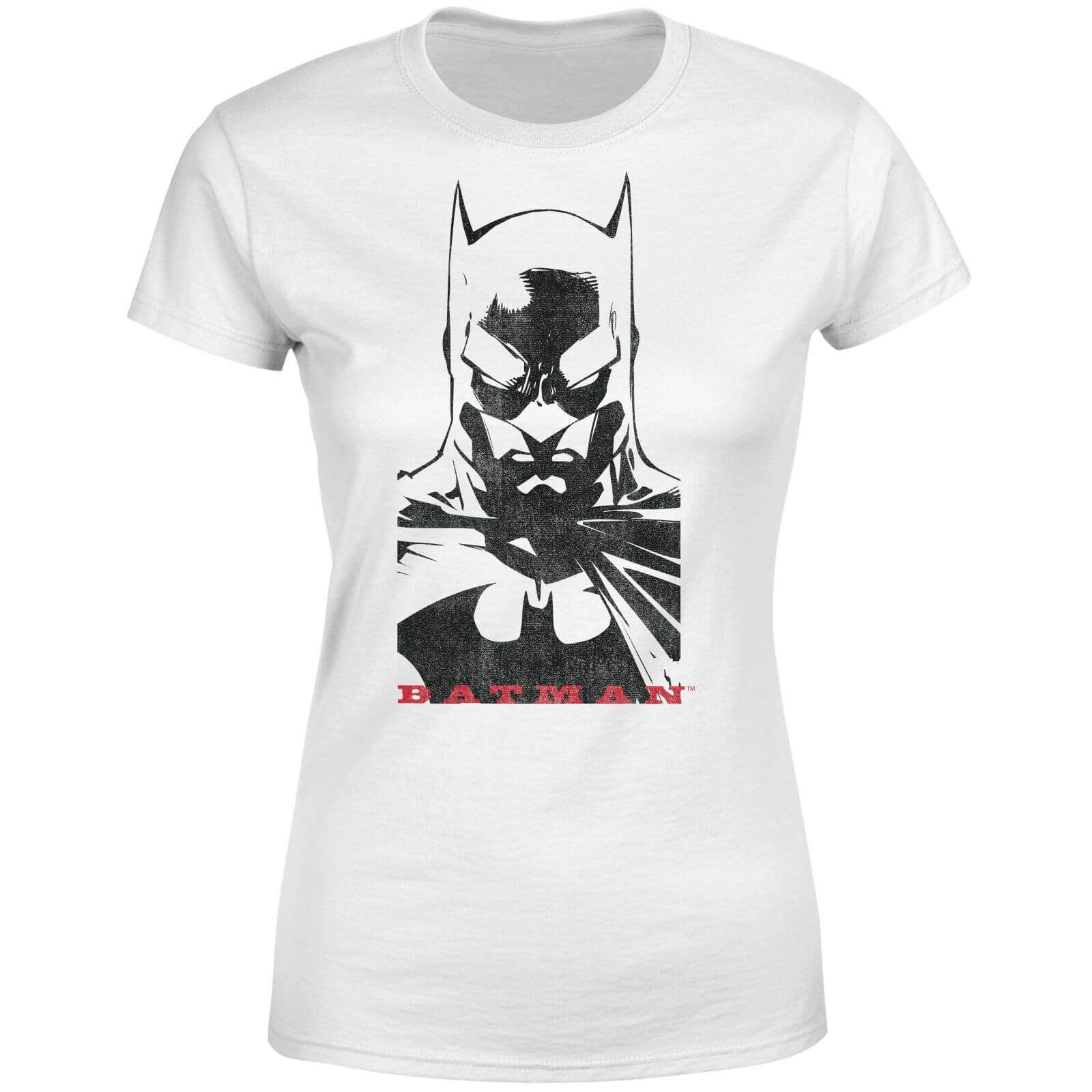 DC Comics Batman Solid Stare Women's T-Shirt - White -  DC Comics Batman Solid Stare Women's T-Sh