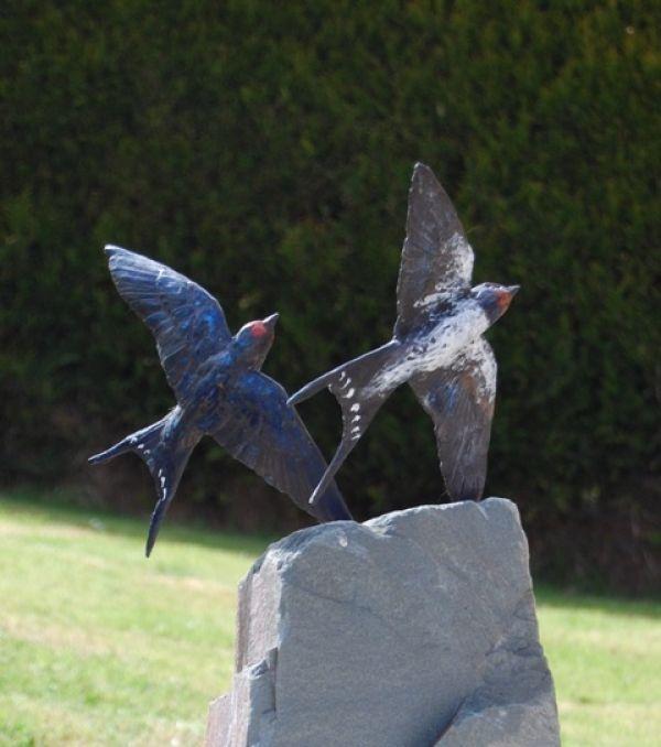 Bronze Garden Or Yard / Outside and Outdoor sculpture by artist JOEL