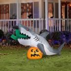 Gemmy 107.48 in. W x 35.83 in. D x 48.82 in. H Animated Inflatable Shark 72094 at The Home Depot - Mobile