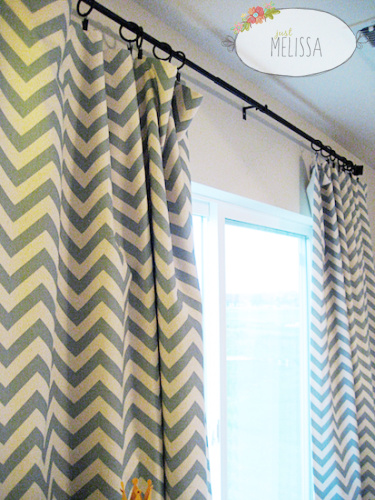 DIY lined curtain panels - for the fabric and liner I bought to go ...