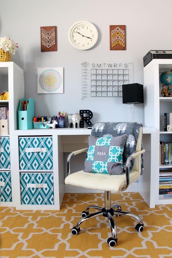 Organized Desk Area for a Teen Room   Home   Bedroom desk, Teen room ...