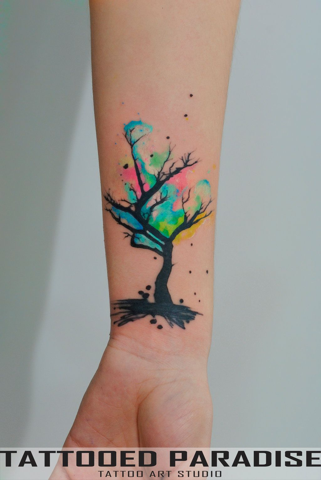Watercolor Tree Cover Up By Dopeindulgence Deviantart Com On
