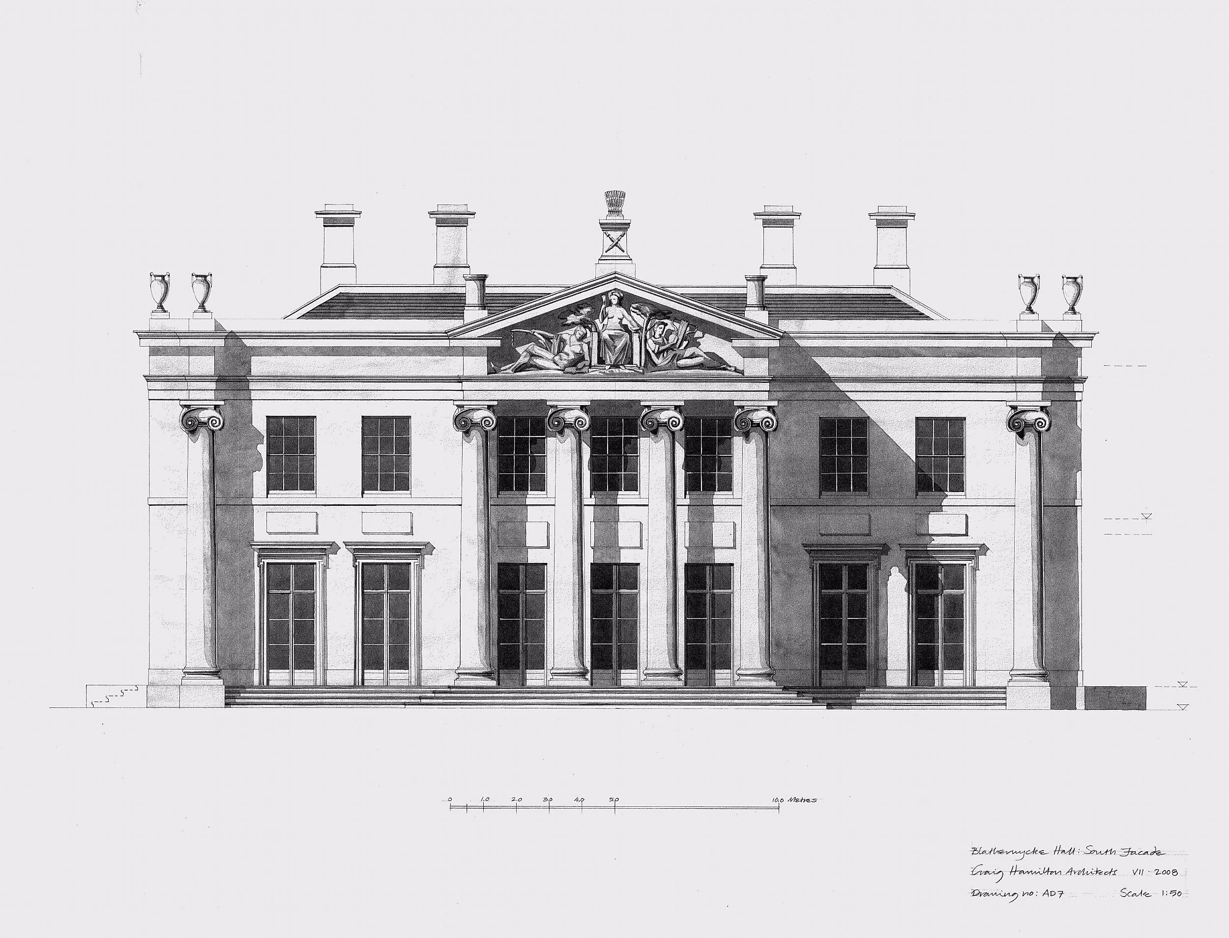 Projects a new country house for an historic estate in shropshire craig hamilton architects building plansarchitectural drawingsthe