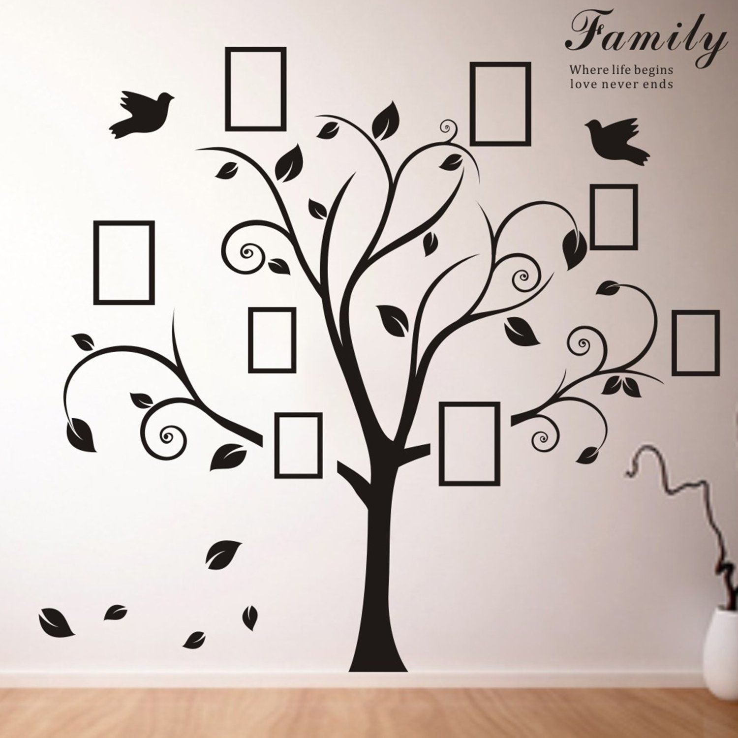 Delmatm huge pvc wall sticker picture frame home decoration delmatm huge pvc wall sticker picture frame home decoration memory family tree photo amipublicfo Image collections