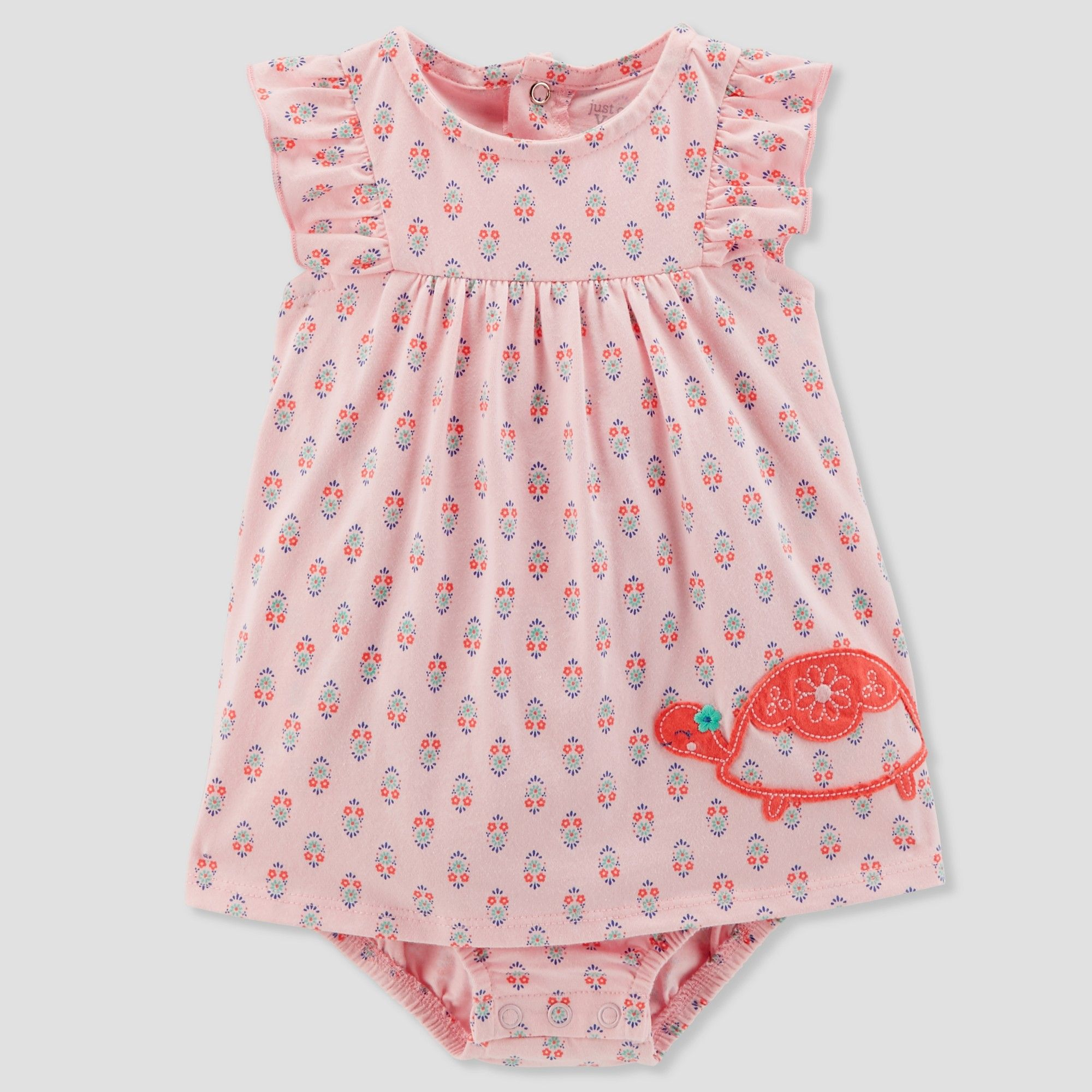 ee722683f878d Baby Girls' 1pc Turtle Sundress - Just One You made by carter's Pink NB