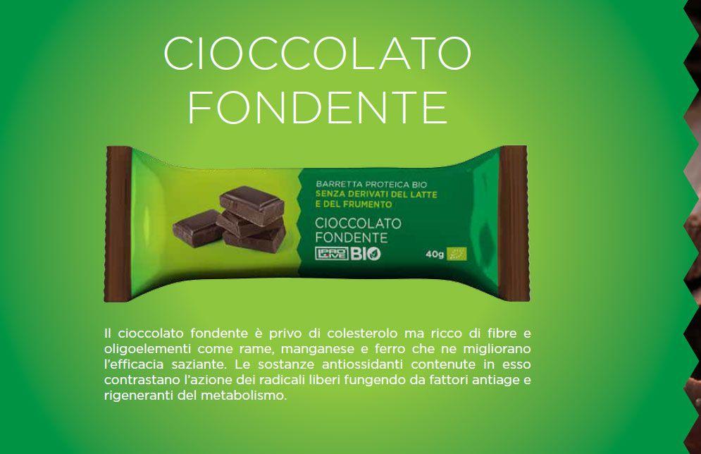 CIOCCOLATO FONDENTE Prolive BIO - PROLIVE BIO Linea barrette proteiche nutrizionali