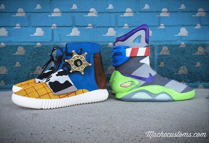 0ff036076256 adidas Yeezy Nike Mag Toy Story Custom Sneakers
