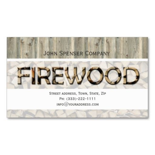 Firewood Supply Company Business Card Company Business Cards Business Card Texture Business Cards