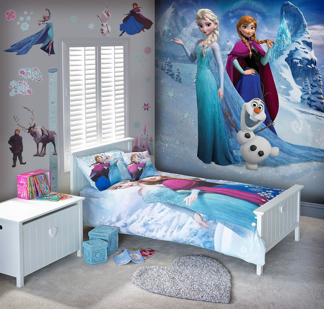 Disney frozen large wall mural from next kids bedroom for Girls murals