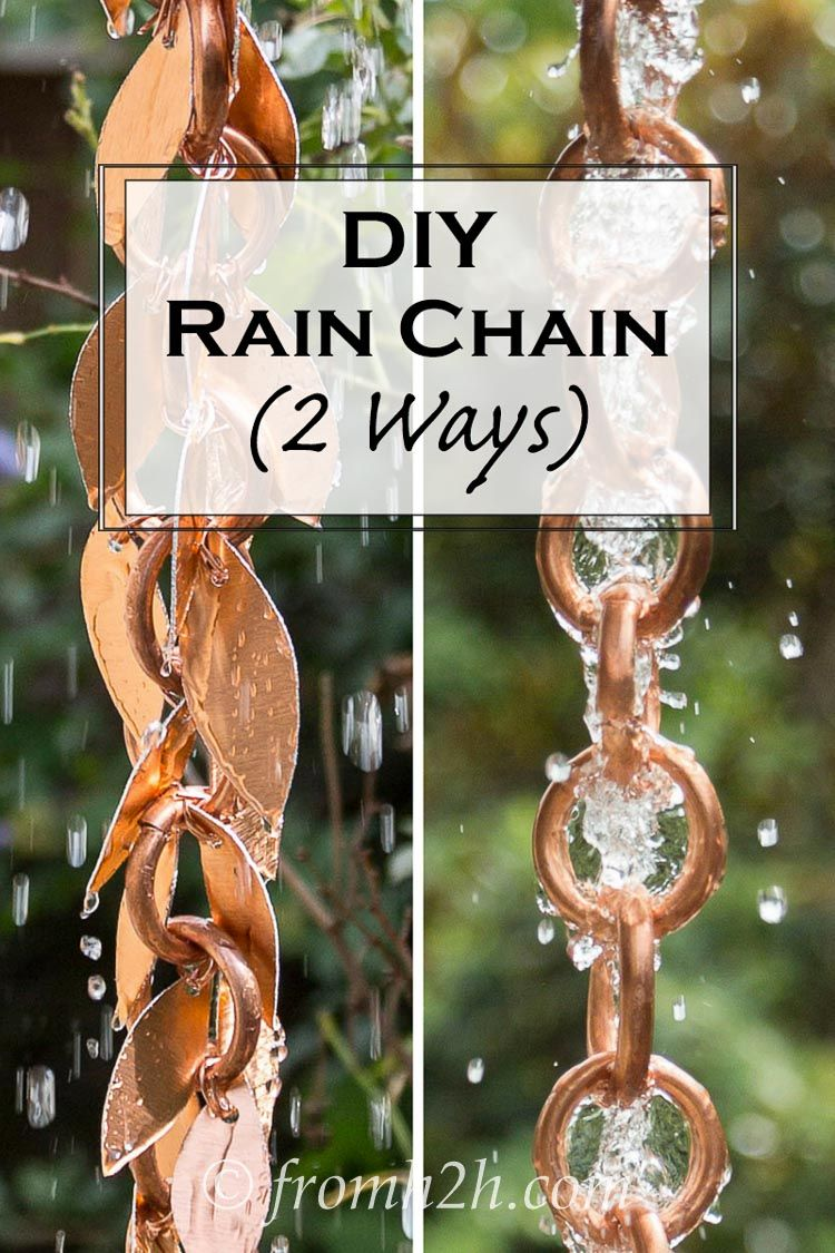 DIY Rain Chain (2 ways)   Want to make your own rain chain but not sure how? Click here to find step-by-step instructions for a DIY Rain Chain, with 2 different style options.