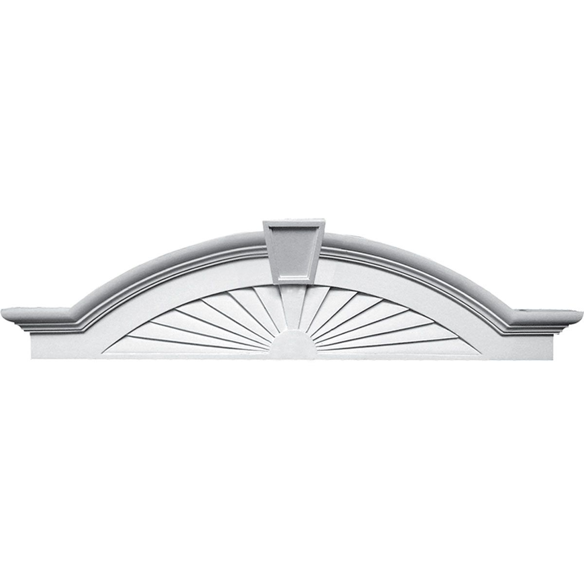 Pd 270375 elliptical sunburst with trim pediment - Decorative exterior door pediments ...