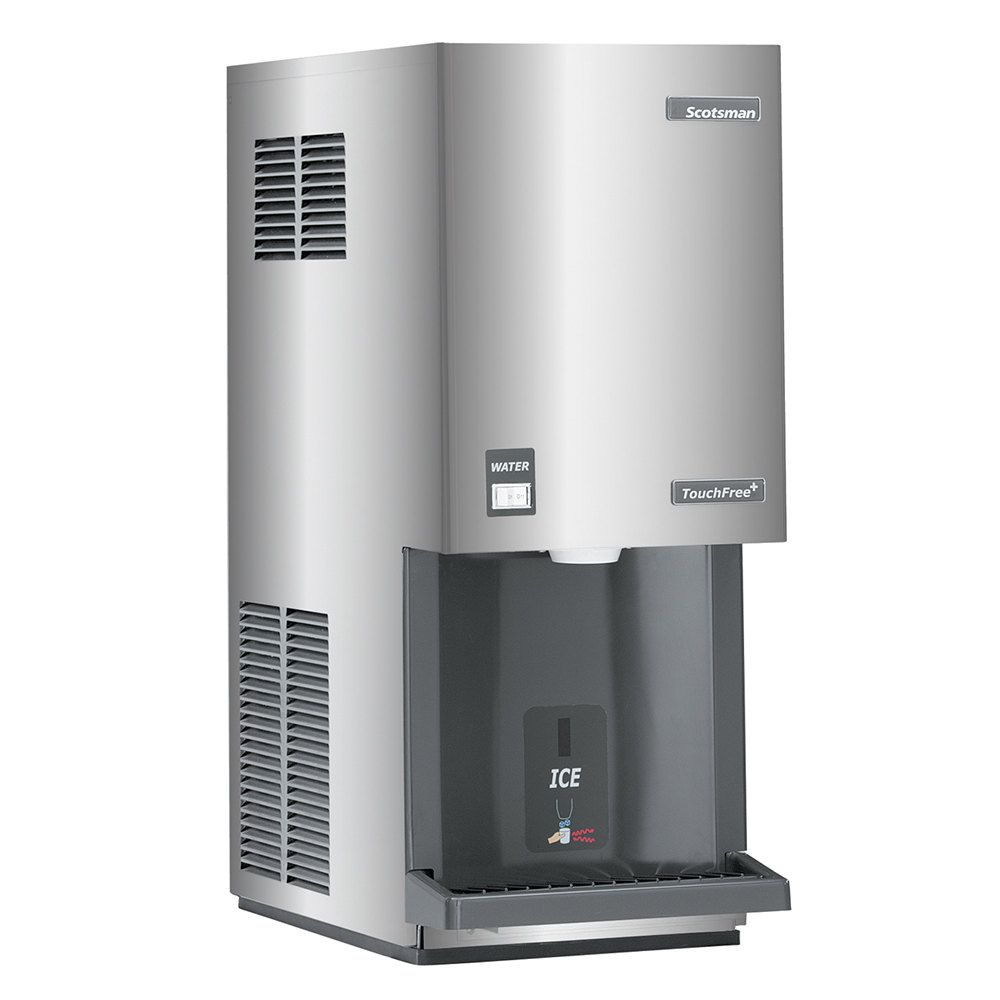 Scotsman Mdt3f12a 1 Touchfree Air Cooled Flake Ice Machine And Dispenser 392 Lb Ice Machine Ice Maker Ice Storage