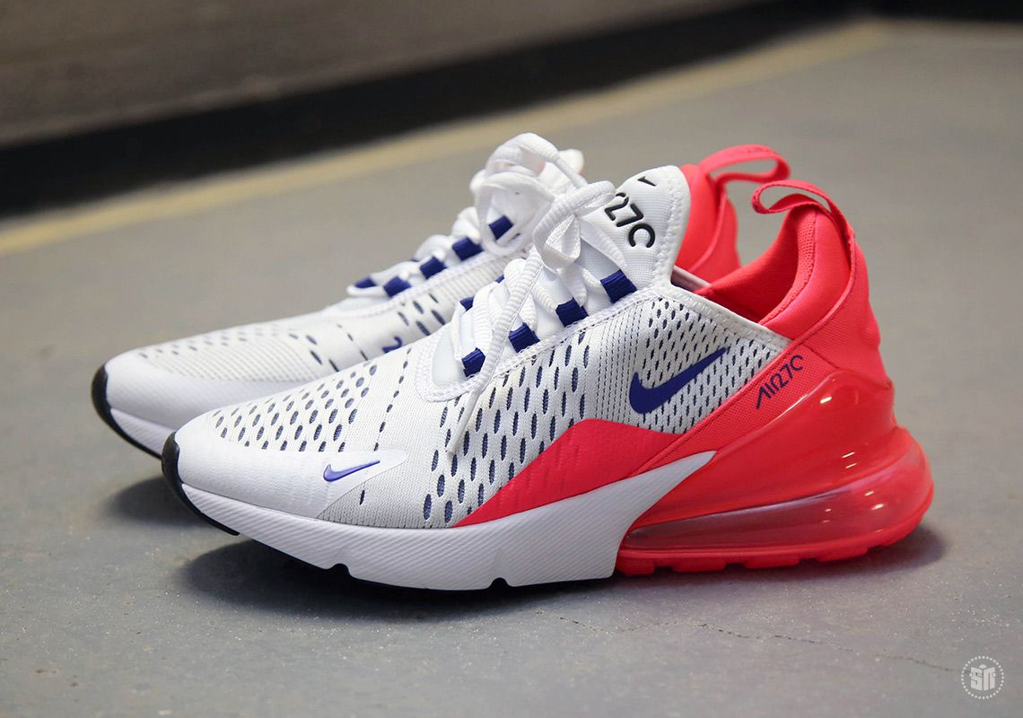 sports shoes cc92d b0e70 Nike Air Max 270 White Ultramarine Solar Red AH6789-101   SneakerNews.com