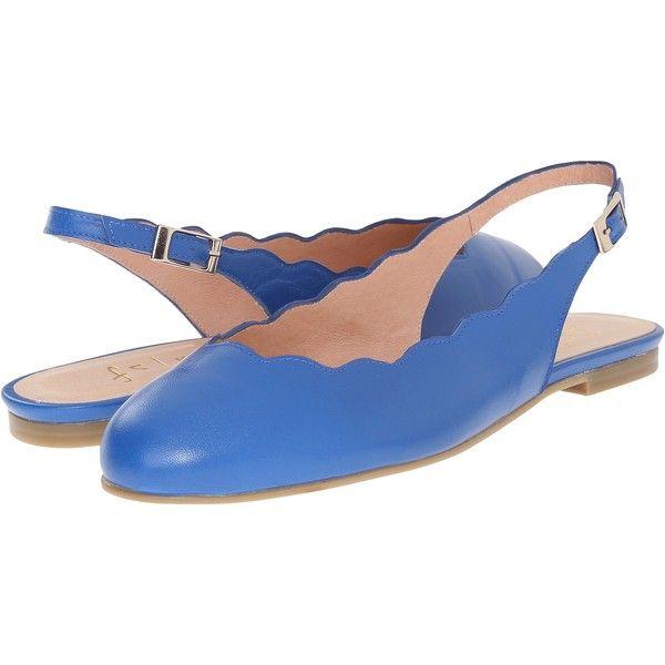 Womens Flats French Sole Womens Woven Cap Toe Ballet Flats Flats cobalt blue nappa raffia Under Discount