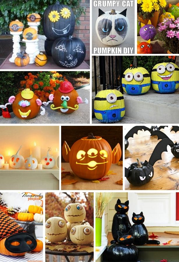 2o silly spooky non scary pumpkin decorating ideas - Non Scary Halloween Decorations