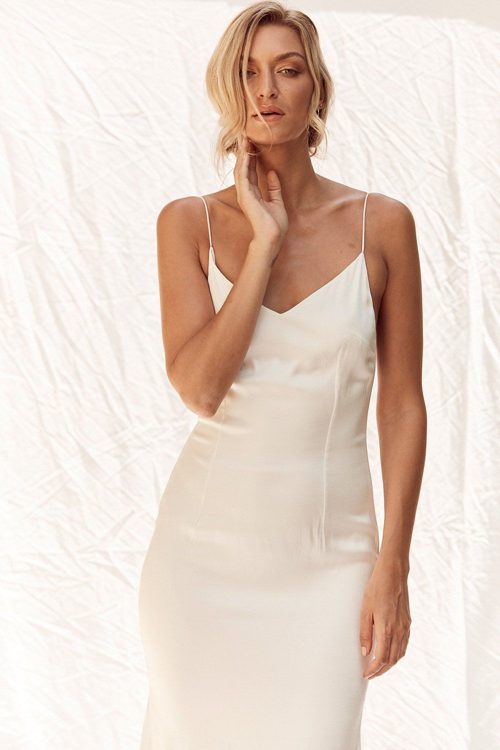 ccaf39e2396670 Apollo Gown without Train in Ivory by MLM LABEL BRIDAL