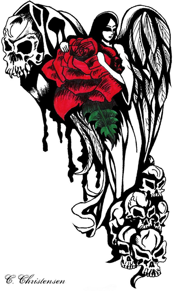 Angel of Death Female | Tattoo Designs/Ideas | Pinterest ...