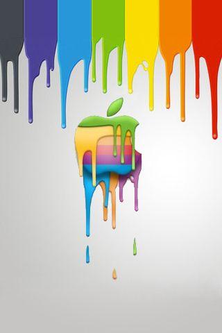 apple logo - dripping paint   apple   pinterest   apple logo