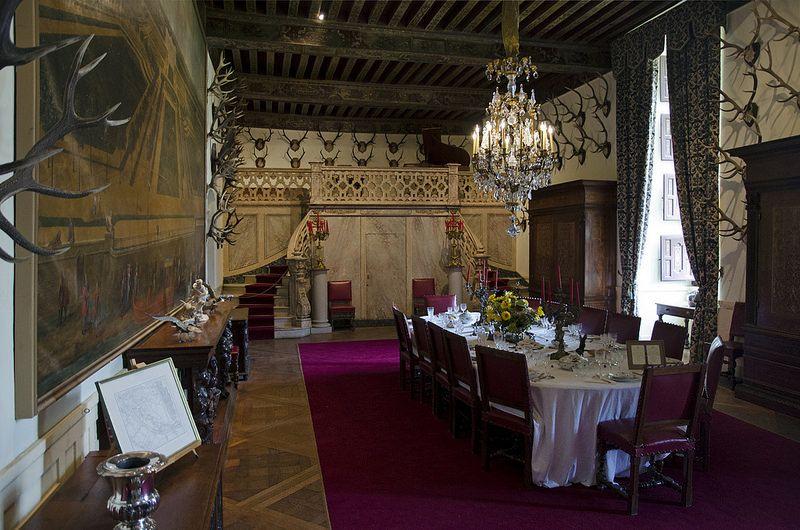 Château de Brissac, Brissac-Quincé, Maine-et-Loire. Salle à manger