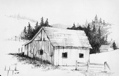 Pin by Jomal John Lopes on Sketching | Landscape pencil ...
