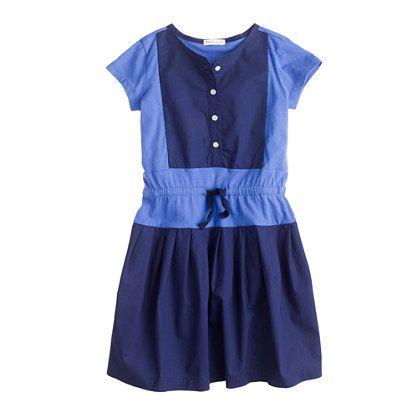 J.Crew - Girls' colorblock bib dress