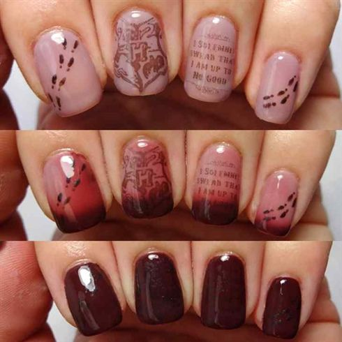Harry Potter Marauders Map Nail Art By Lacquered Lawyer On Nail