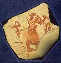 Self-Portrait of an Egyptian Scribe with his Autograph Signature (Circa 1,292 BCE – 1,069 BCE)
