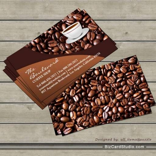 Coffee Beans Business Card Coffee Shop Business Card Bakery Business Cards Business Cards