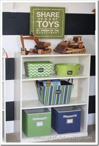 Home Organization 101 Repurpose A Bookshelf For Toy Storage With Bins Homeorganization Kids