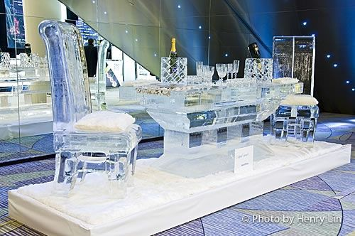 Ice Dining Table Dining Chairs Ice And Sand Sculptures