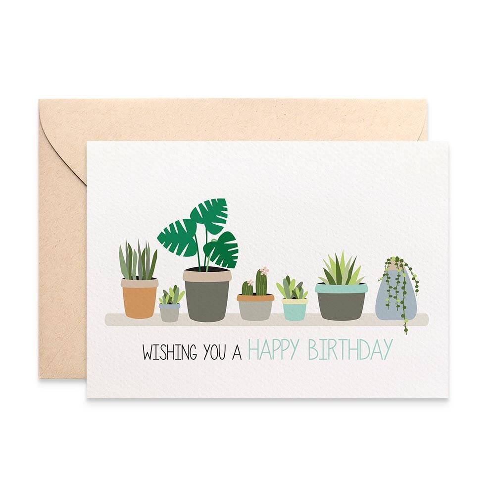 Indoor Plants On Shelf Birthday Cards For Women Birthday Cards For Her Birthday Cards