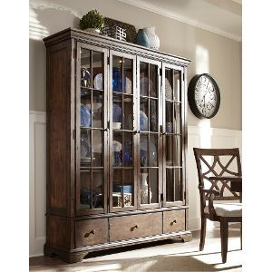 Coffee Large Curio Cabinet Trisha Yearwood Collection Archer
